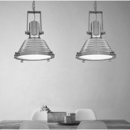 LOFT INDUSTRIALNA LAMPA BOTTI SILVER